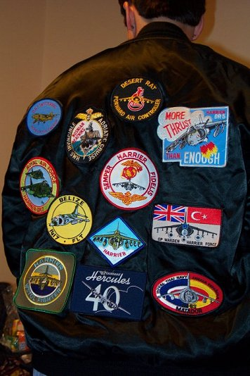 Sarah's new jacket with patches