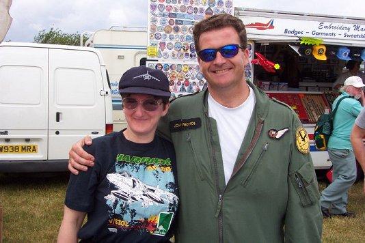 Sarah with John Nichol
